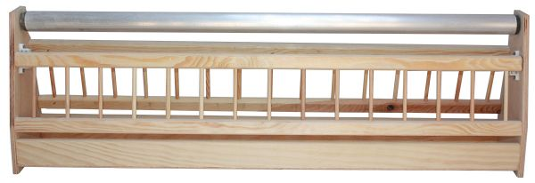 Trough for pigeons with roll - 75 x 13 x 24 cm