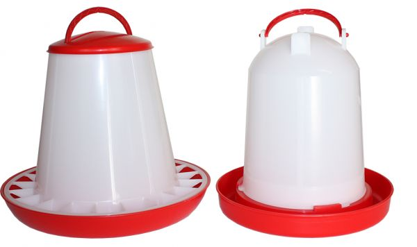 Set of feeder (6 kg) and drinker (6 l) for poultry