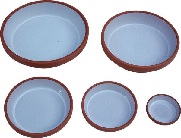 Food Bowl made of clay, glazed inside - 24 cm