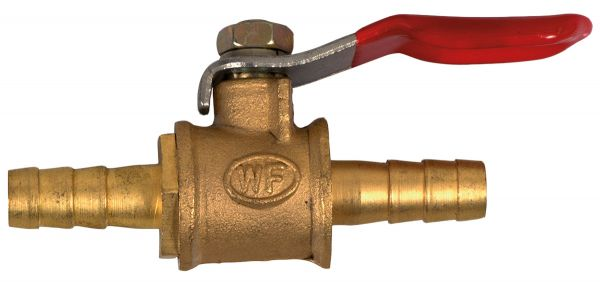 Cut-off cock 6 x 6 for 6 mm hose