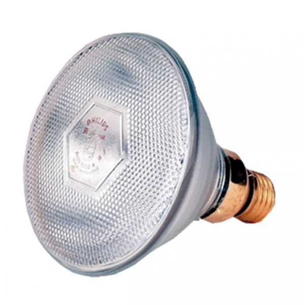 Energy saving Infrared bulb - white light (175 Watt)