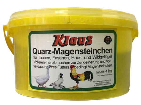 Quarz Magensteinchen für Geflügel und Tauben (4000g)