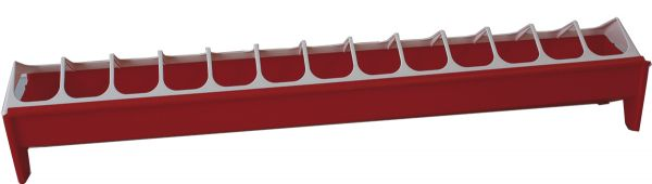 Futtertrog für Küken - mit Fressplatzeinteilung (75 x 10 cm)