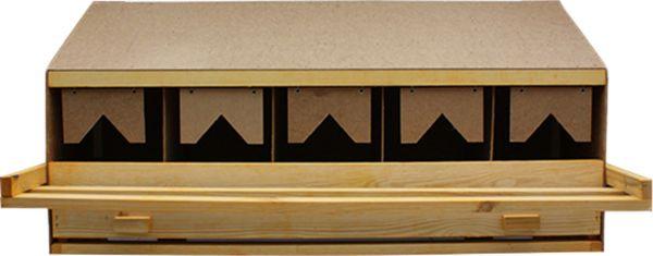 Legenest aus Holz mit 5 Legebuchten OBERTEIL - klein für kleine bis mittelgroße Rassen