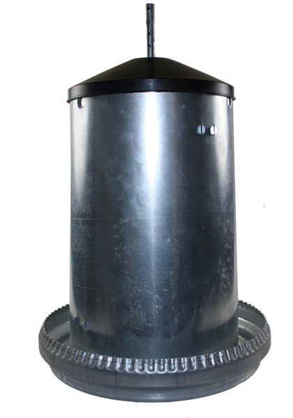 Feeder for poultry - galvanized - (18kg)
