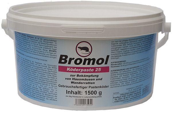 Bromol Pastenköder gegen Ratten und Mäuse (1.500 g)
