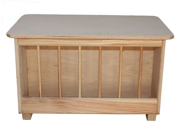Gritkasten aus Holz als Tränkenhocker - 38 x 23 x 25,5 cm