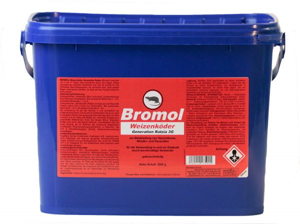 Decoy for rats and mice (wheat) Bromol 3000 g