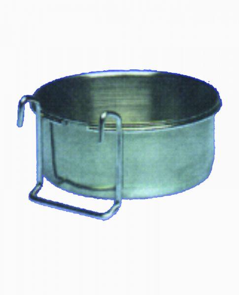 Edelstahlnapf mit Hängegestell (0,6l) - Bild 1