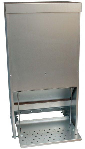 Futterautomat mit Trittklappe für Geflügel - verzinkt - (30L)