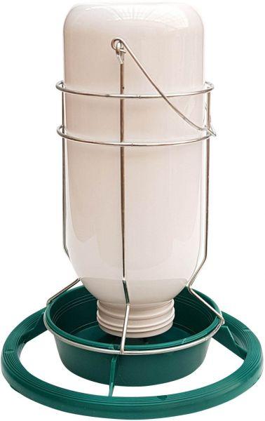 Tränke / Futterautomat mit Kunststoffeinsatz - (1 l)
