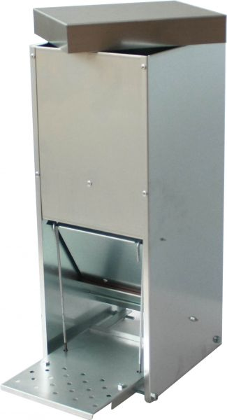Automatic treadle feeder 15 L - galvanized