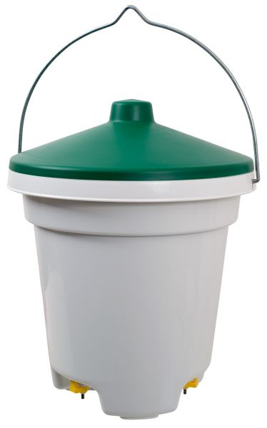 Poultry drinker - bucket drinker with nipples (12l)