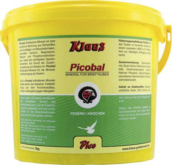 Picobal racing pigeon mineral - 5KG