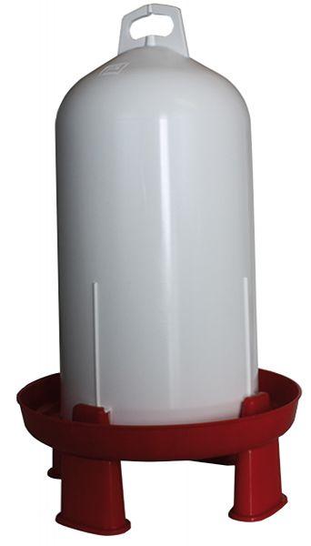 Plastic poultry drinker (12 l) incl. 4 feet