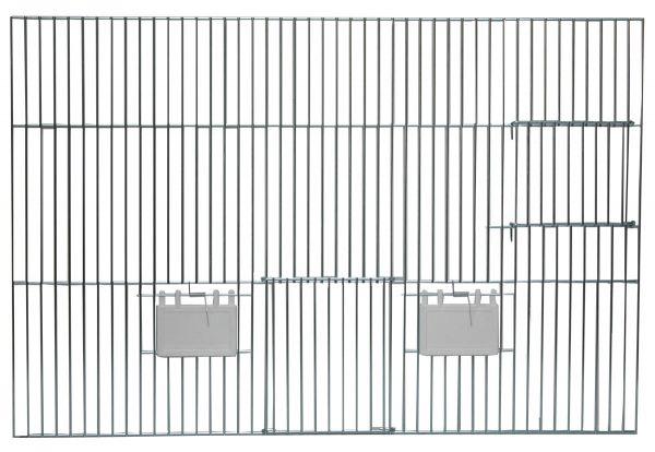 Vorsatzgitter mit Nistkastentür - 60x40cm