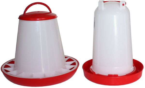 Set of feeder (3 kg) and drinker (3 l) for poultry