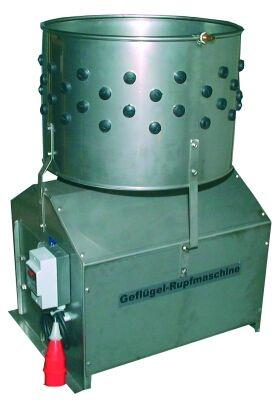 Wet plucking machine - 400 Volt - stainless steel