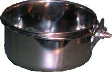 Edelstahlnapf mit Schraubhalterung (0,9l) - Bild 1