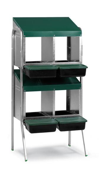 Legenest aus Metall und Kunststoff (2 x 2 Abteile)
