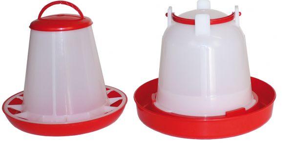 Set of feeder (1 kg) and drinker (1,5 l) for chicks