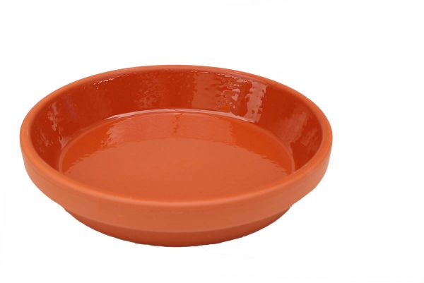 Food Bowl made of clay, glazed inside - 10 cm