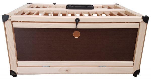 Transportkiste aus Holz für Tauben - 1 Abteil