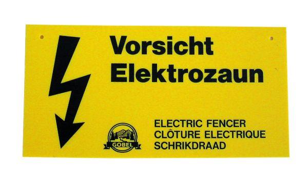 Warnschild für Elektrozaun - Bild 1