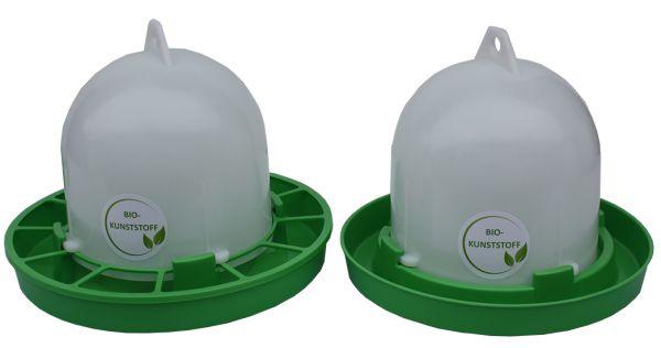 Set of feeder (2,5 kg) and drinker (3,5 l) - BIO plastic
