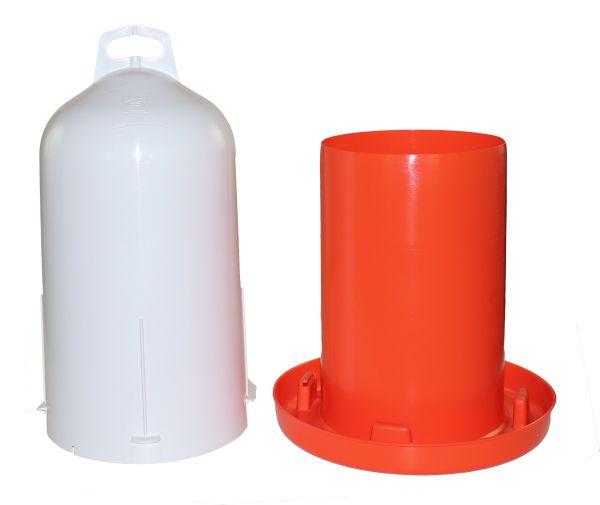 Doppelzylinder-Tränke 12l leuchtorange