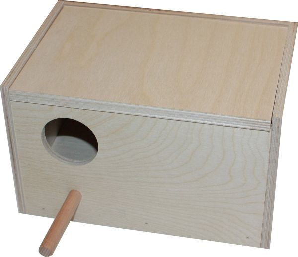 Nest box for budgies with rod 20,5 x 14 x 12,5 cm