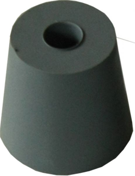 Rubber stopper for rabbit bottles, conical -small