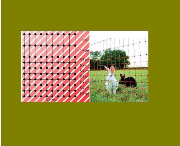 Kaninchennetz Höhe 65 cm, Länge 12 m - stromführend - Bild 1