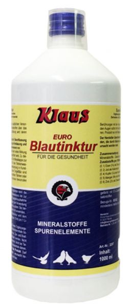 Klaus Euro-Blue tincture for pigeons (1000ml)