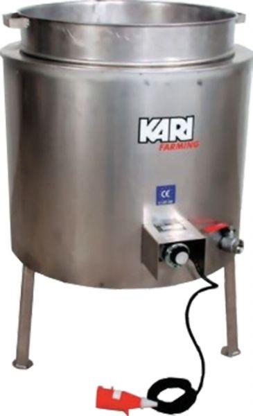 Brühkessel mit Ablauf-Kugelhahn - Edelstahl ISO (150 l, 6 KW/400 V)