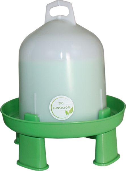 Doppelzylindertränke aus Bio Kunststoff (6L) mit Standfüßen