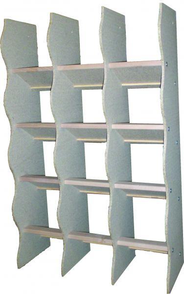 Sitzregal mit 12 Sitzplätzen - Holz - Bild 1