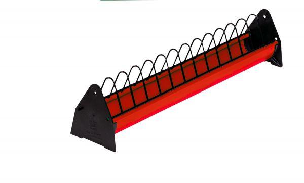 Feeding trough for hens (red) - 75 cm